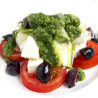 Burrata with Pesto and Tomatoes